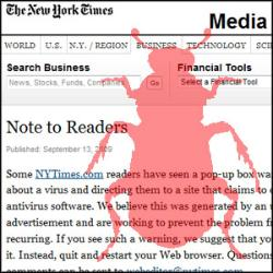 NYTimes.com Serving up Malware via Ads last weekend