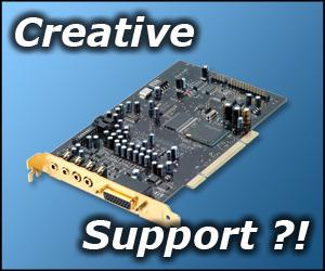 Creative Labs support, where is it when you need it?