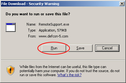 Download security dialog